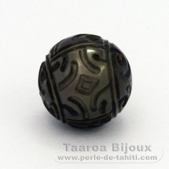 Engraved Tahitian Pearl 12.1 mm