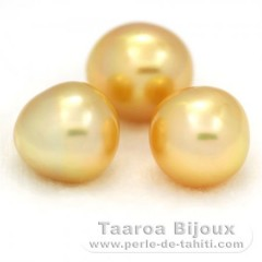 Lot of 3 Australian Pearls Semi-Baroque A+ from 11.1 to 11.2 mm
