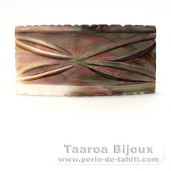 Tahitian mother-of-pearl rectangle shape - 58 x 29 mm
