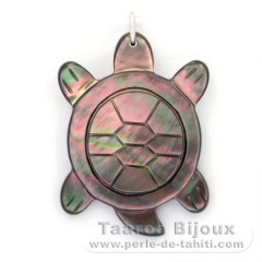 Mother-of-Pearl Turtle Pendant - Free Gift for purchases over 300 Euros