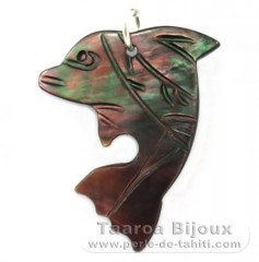 Tahitian Mother-of-Pearl Dolphin Pendant