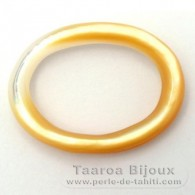 Mother-of-pearl oval shape - 30 x 20 x 2.5 mm