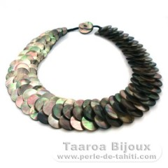 Tahitian Mother-of-pearl necklace - Length = 45 cm