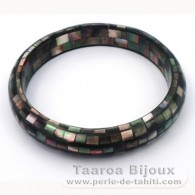 Tahitian Mother-of-pearl bracelet - Diameter = 7 cm