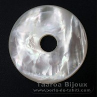 Mother-of-pearl donut - 35 mm diameter