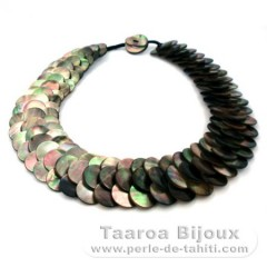 Tahitian Mother-of-pearl necklace - Length = 50 cm