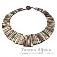 Tahitian Mother-of-pearl necklace - Length = 43 cm