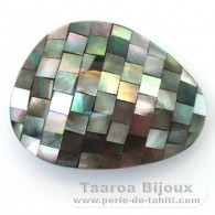 Mother-of-pearl nugget shape - 46 x 35 x 15 mm