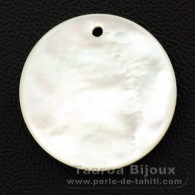 Mother-of-pearl round shape - 20 mm diameter