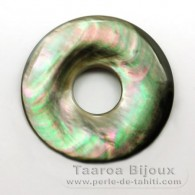 Tahitian mother-of-pearl round shape - 35 mm diameter