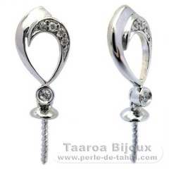 Earrings for pearls from 9 to 12 mm - Silver .925 - Settings for pearls