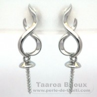 Earrings for pearls from 8 to 10 mm - Silver .925 - Settings for pearls