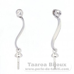 Earrings for pearls from 8 to 9.5 mm - Silver .925 - Settings for pearls