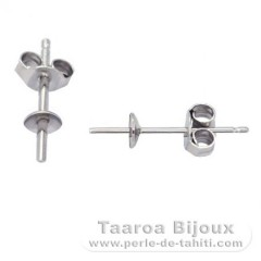 Earrings for pearls from 6 to 10 mm - Silver .925 - Settings for pearls