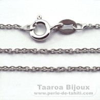 "Silver .925 Rhodium Chain - Length = 50 cm - 20"" - Diameter = 1.3 mm"