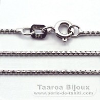 "Silver .925 Rhodium Chain - Length = 45 cm - 18"" - Diameter = 1 mm"