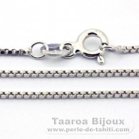 "Silver .925 Rhodium Chain - Length = 50 cm - 18"" / Diameter = 0.8 mm"