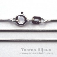 "Silver .925 Rhodium Chain - Length = 40 cm - 16"" - Diameter = 0.9 mm"
