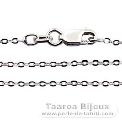 Silver .925 Rhodium Chain - Length = 45 cm - 18'' / Diameter = 1.3 mm