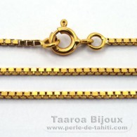 "18K Solid Gold Chain - Length = 45 cm - 17.7"" - Diameter = 1.1 mm"