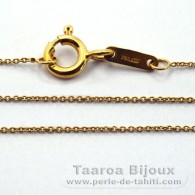 "18K Solid Gold Chain - Length = 42 cm - 16.5"" - Diameter = 0.5 mm"