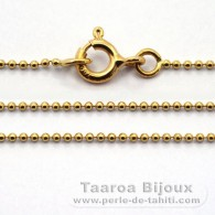 "18K Solid Gold Chain - Length = 45 cm - 17.7"" - Diameter = 1 mm"