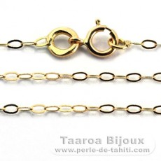 18K Solid Gold Chain - Length = 45 cm - 17.7'' / Diameter = 1.3 mm