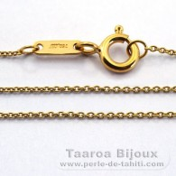 "18K Solid Gold Chain - Length = 42 cm - 16.5"" - Diameter = 0.9 mm"