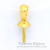18K Solid Gold Pendant for 1 Pearl from 8 to 12 mm